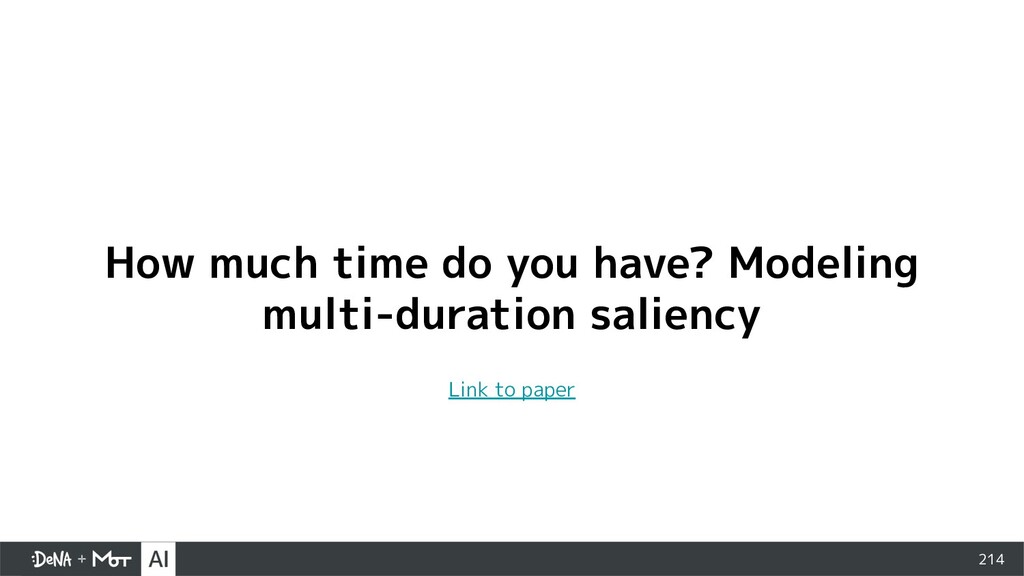 214 How much time do you have? Modeling multi-d...