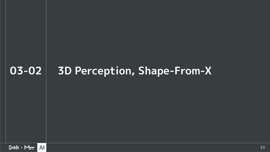33 3D Perception, Shape-From-X 03-02