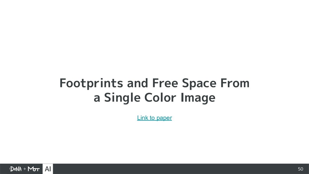 50 Footprints and Free Space From a Single Colo...