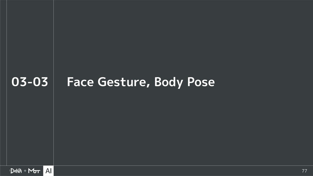 77 Face Gesture, Body Pose 03-03
