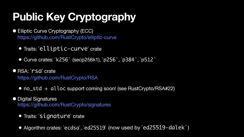 Public Key Cryptography • Elliptic Curve Crypto...