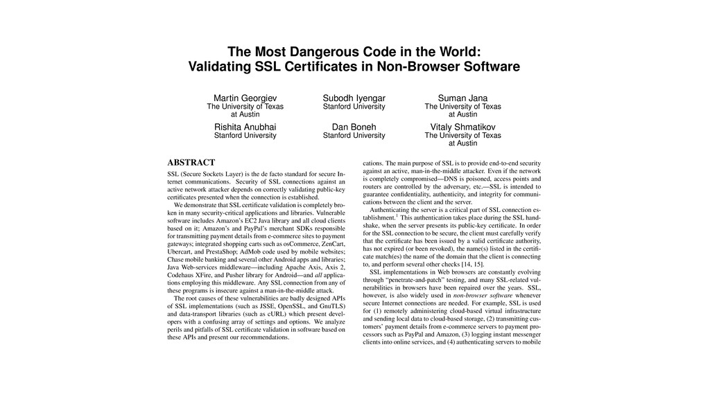 The Most Dangerous Code in the World: Validatin...