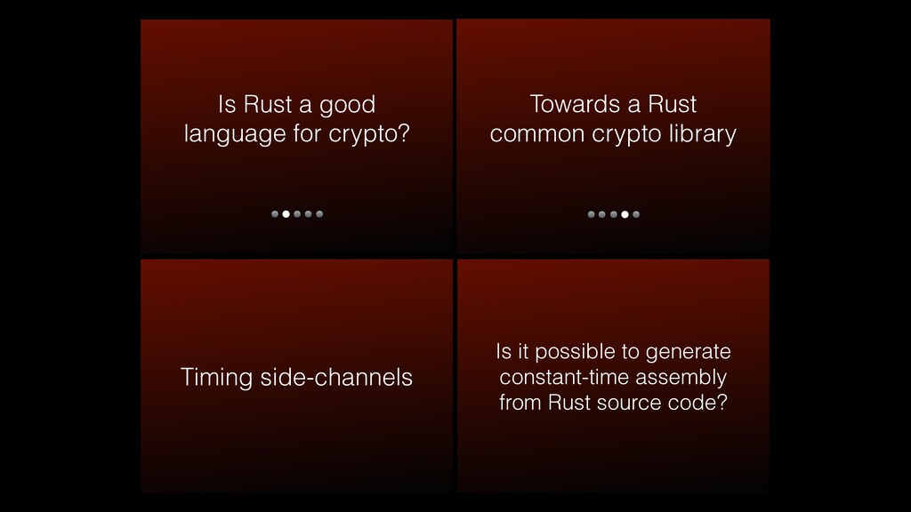 Is Rust a good language for crypto? Timing side...