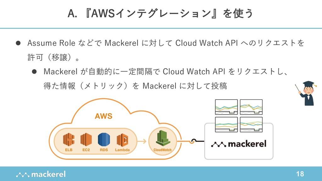 18 l Assume Role などで Mackerel に対して Cloud Watch ...
