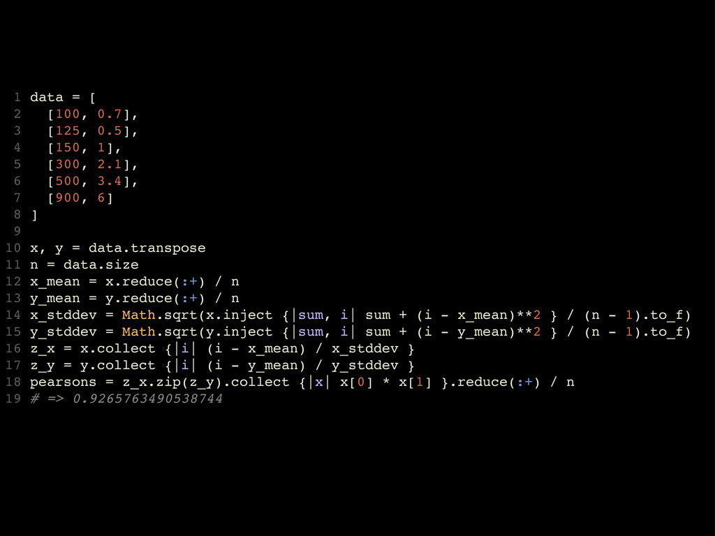 1 data = [ 2 [100, 0.7], 3 [125, 0.5], 4 [150, ...