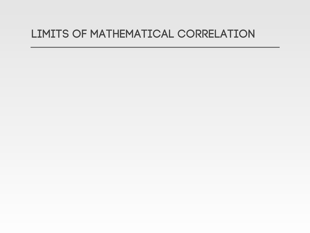 LIMITS OF Mathematical correlation