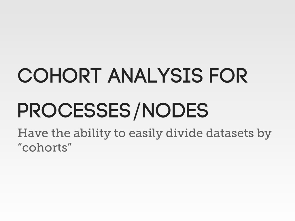 """Have the ability to easily divide datasets by """"..."""