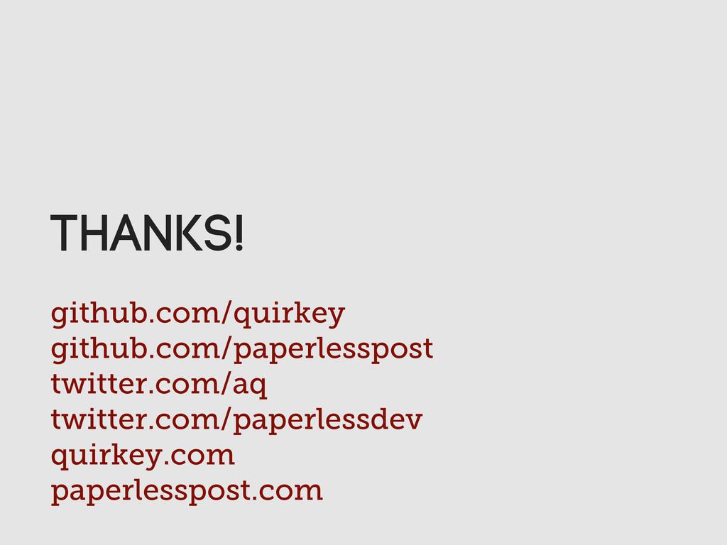 github.com/quirkey github.com/paperlesspost twi...