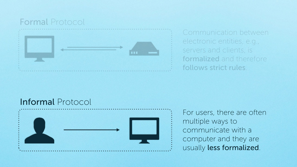 Informal Protocol For users, there are often mu...
