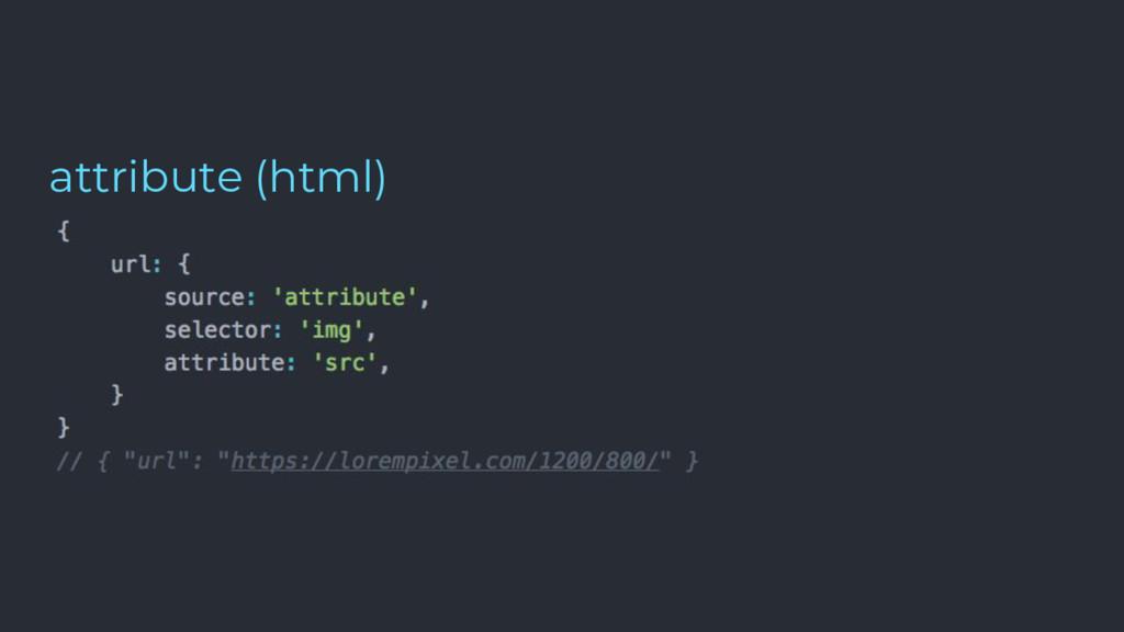 attribute (html)
