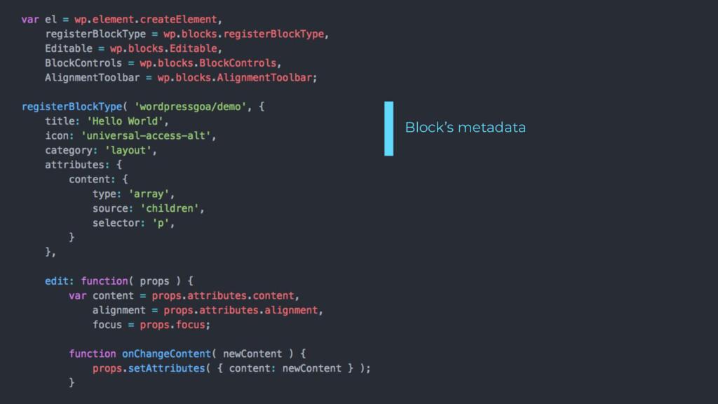 Block's metadata