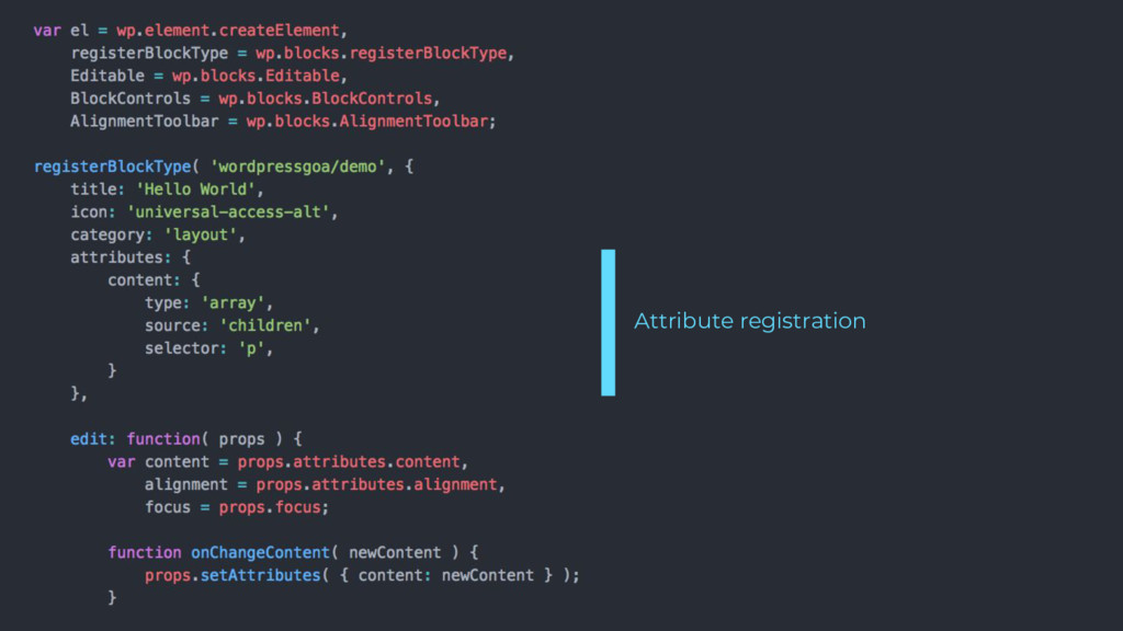 Attribute registration