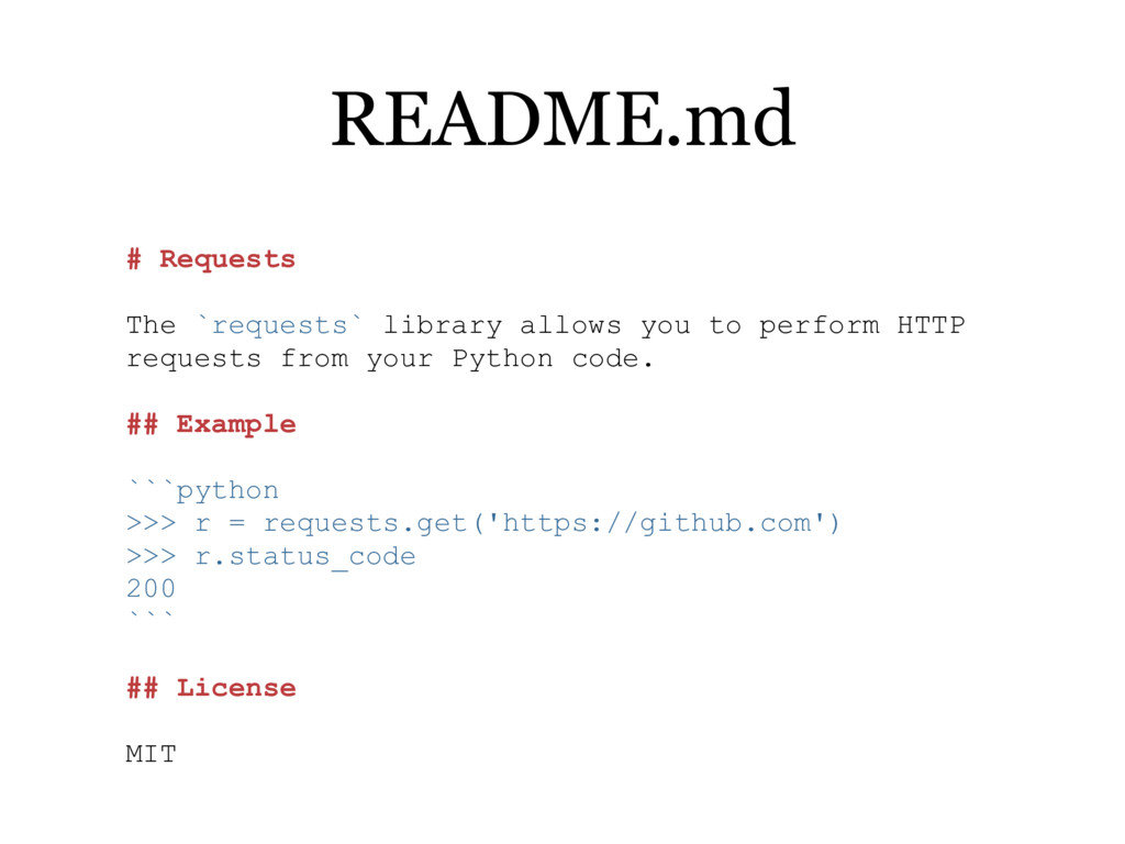 # Requests The `requests` library allows you to...