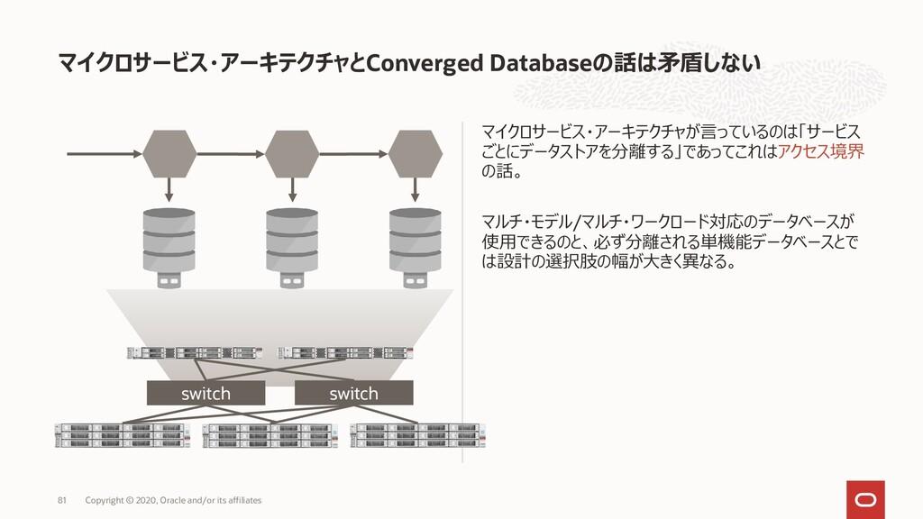 マイクロサービス・アーキテクチャが言っているのは「サービス ごとにデータストアを分離する」であ...