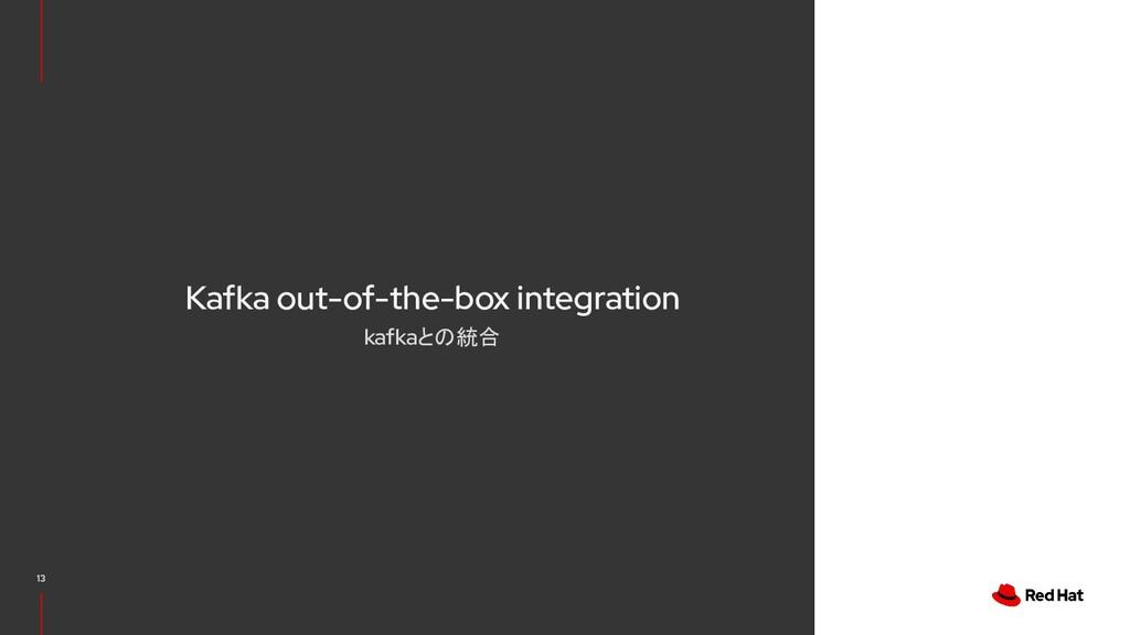 Kafka out-of-the-box integration kafkaとの統合 13