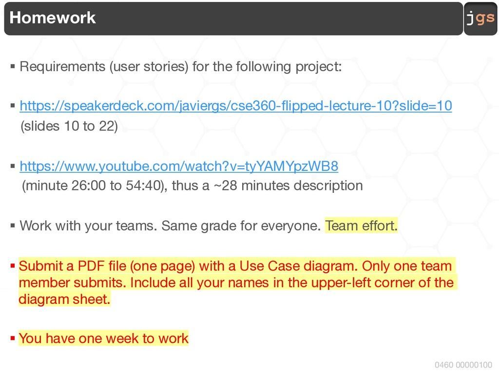 jgs 0460 00000100 Homework § Requirements (user...