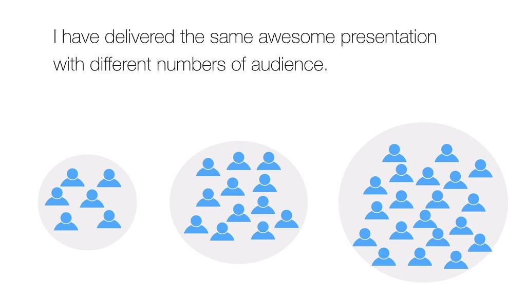 I have delivered the same awesome presentation ...