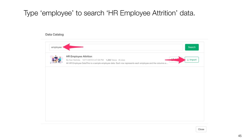45 Type 'employee' to search 'HR Employee Attri...