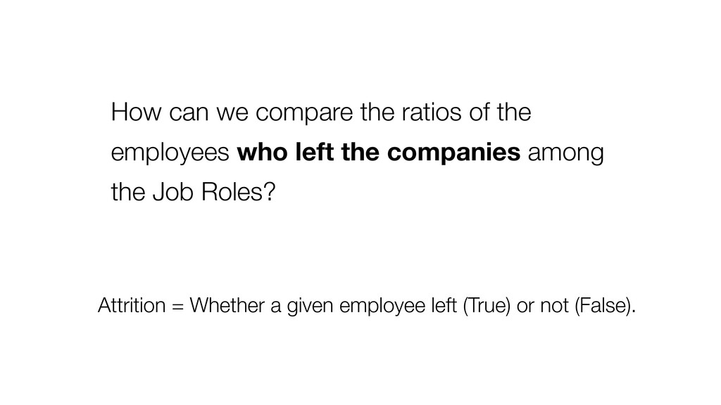 How can we compare the ratios of the employees ...