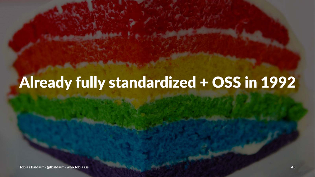 Already(fully(standardized(+(OSS(in(1992 Tobias...