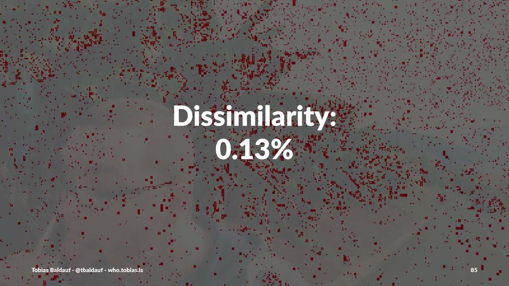 Dissimilarity: 0.13% Tobias'Baldauf'-'@tbaldauf...