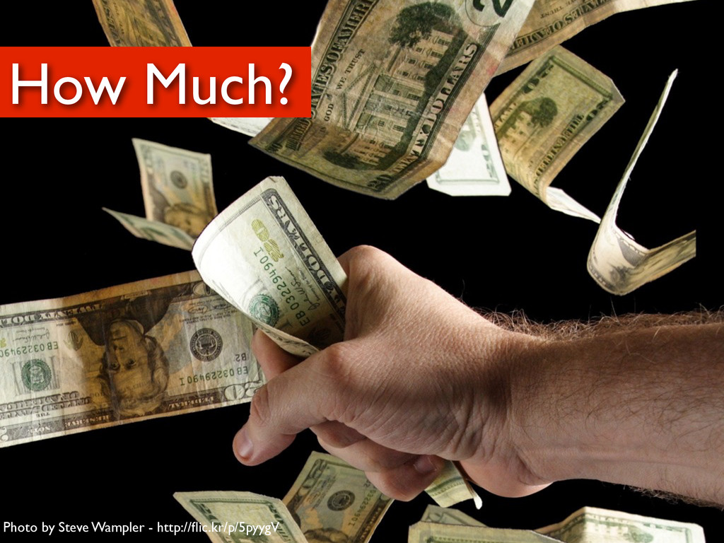 How Much? Photo by Steve Wampler - http://flic.k...