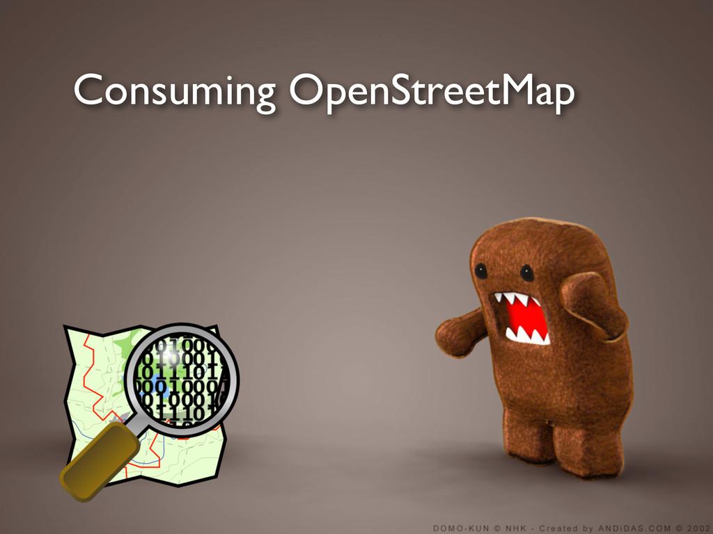 Consuming OpenStreetMap
