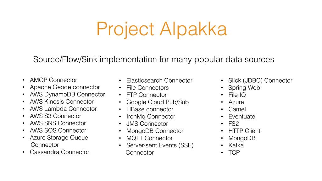 Project Alpakka Source/Flow/Sink implementation...