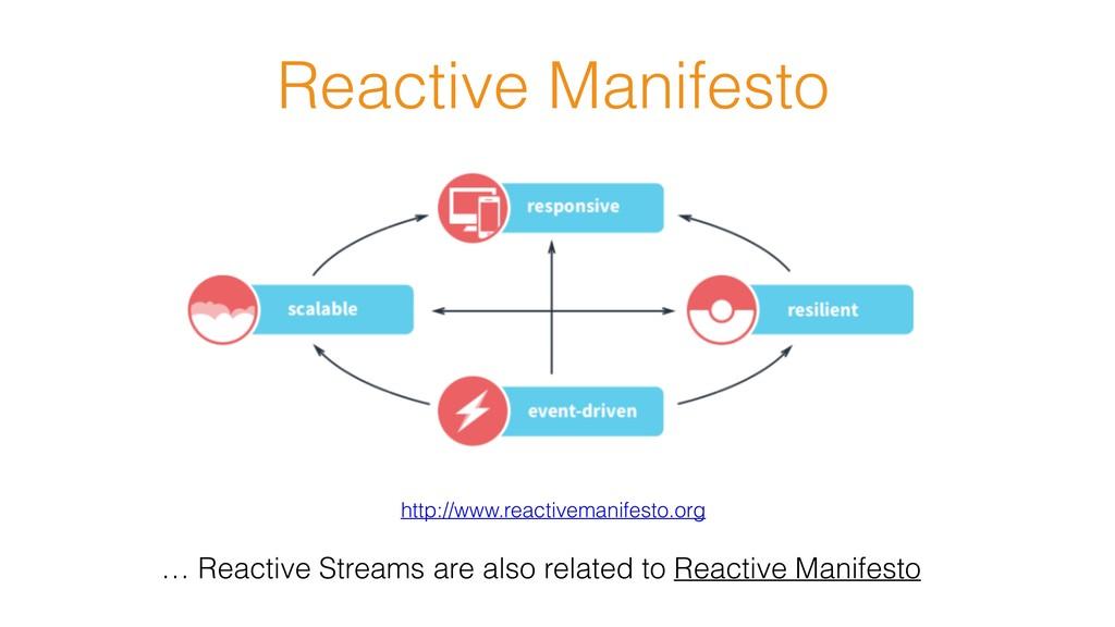 Reactive Manifesto http://www.reactivemanifesto...