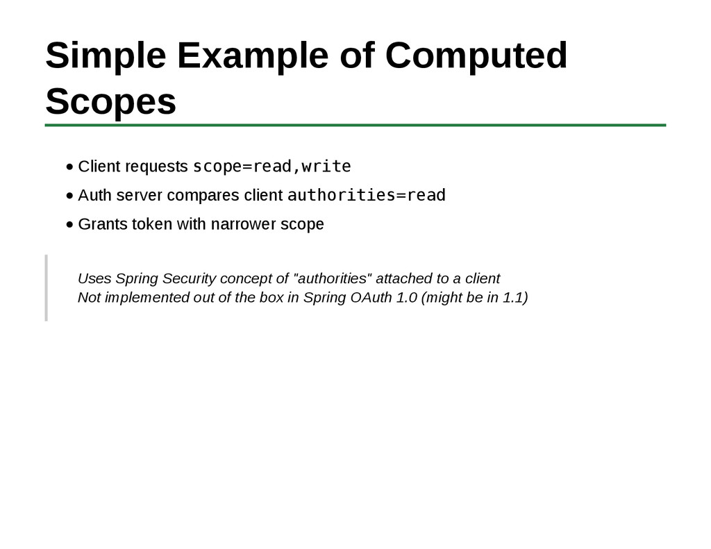 Simple Example of Computed Scopes Client reques...