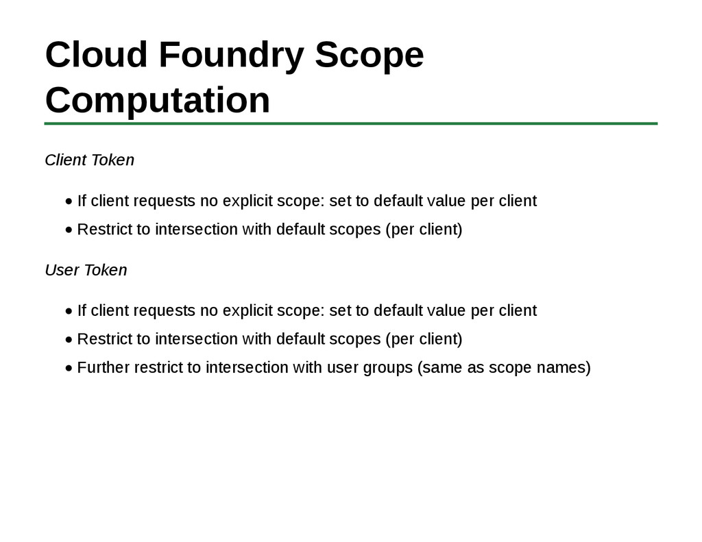Cloud Foundry Scope Computation Client Token If...