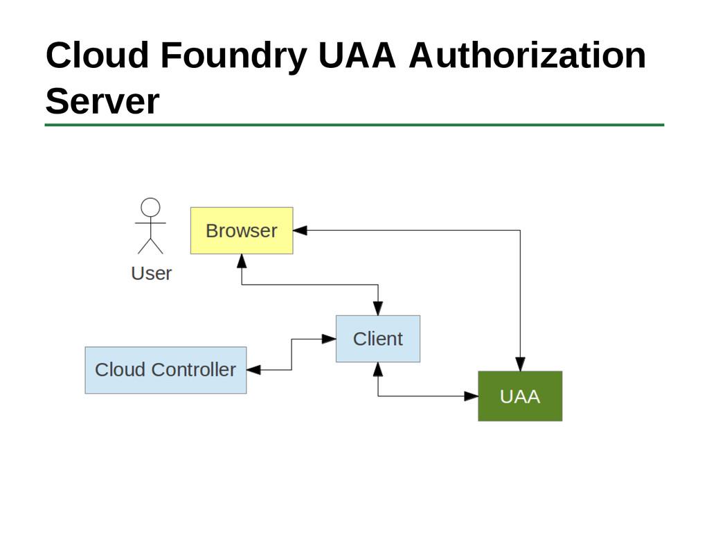 Cloud Foundry UAA Authorization Server
