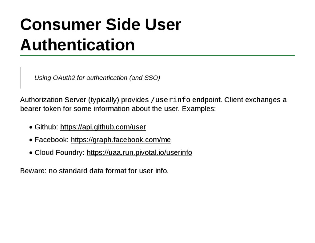 Consumer Side User Authentication Using OAuth2 ...