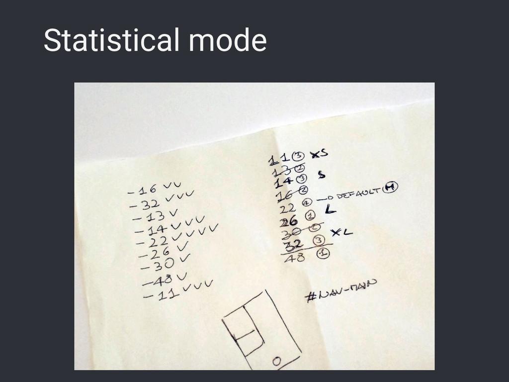 Statistical mode