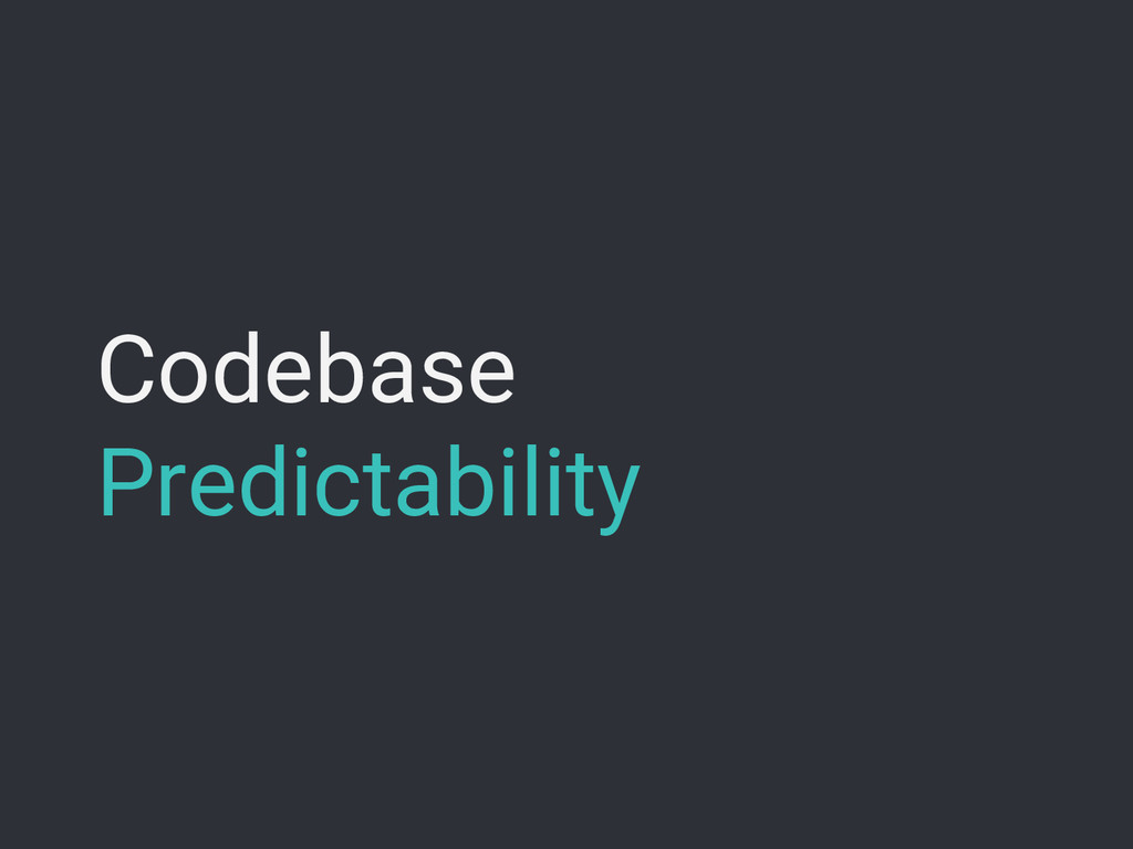 Codebase Predictability