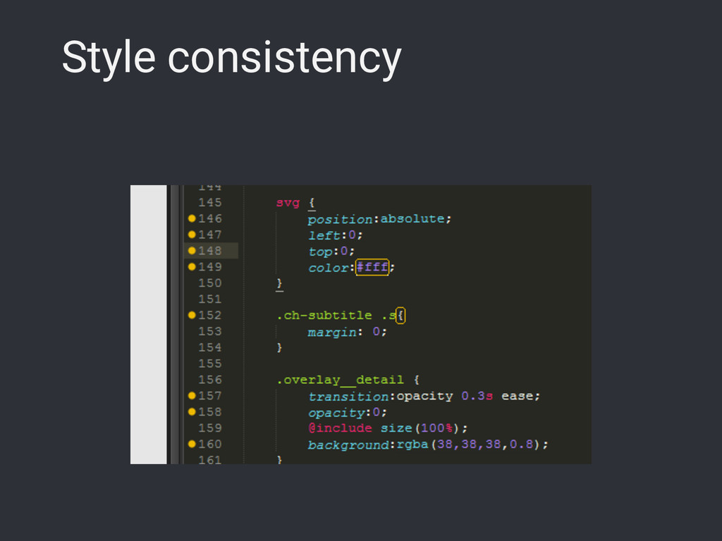 Style consistency