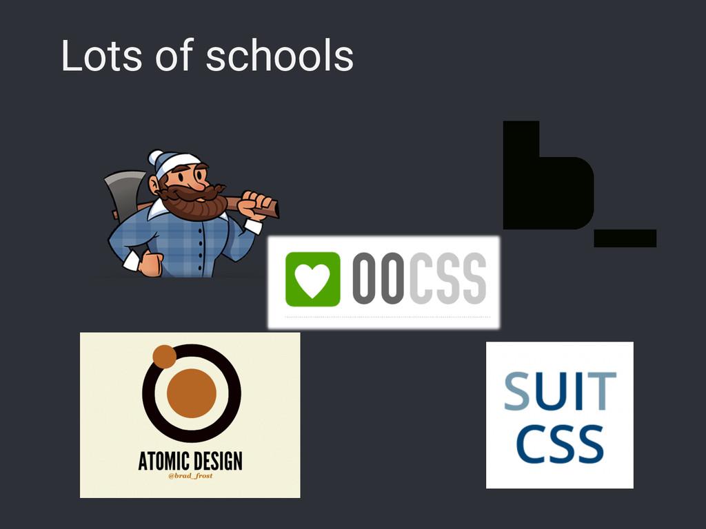 Lots of schools