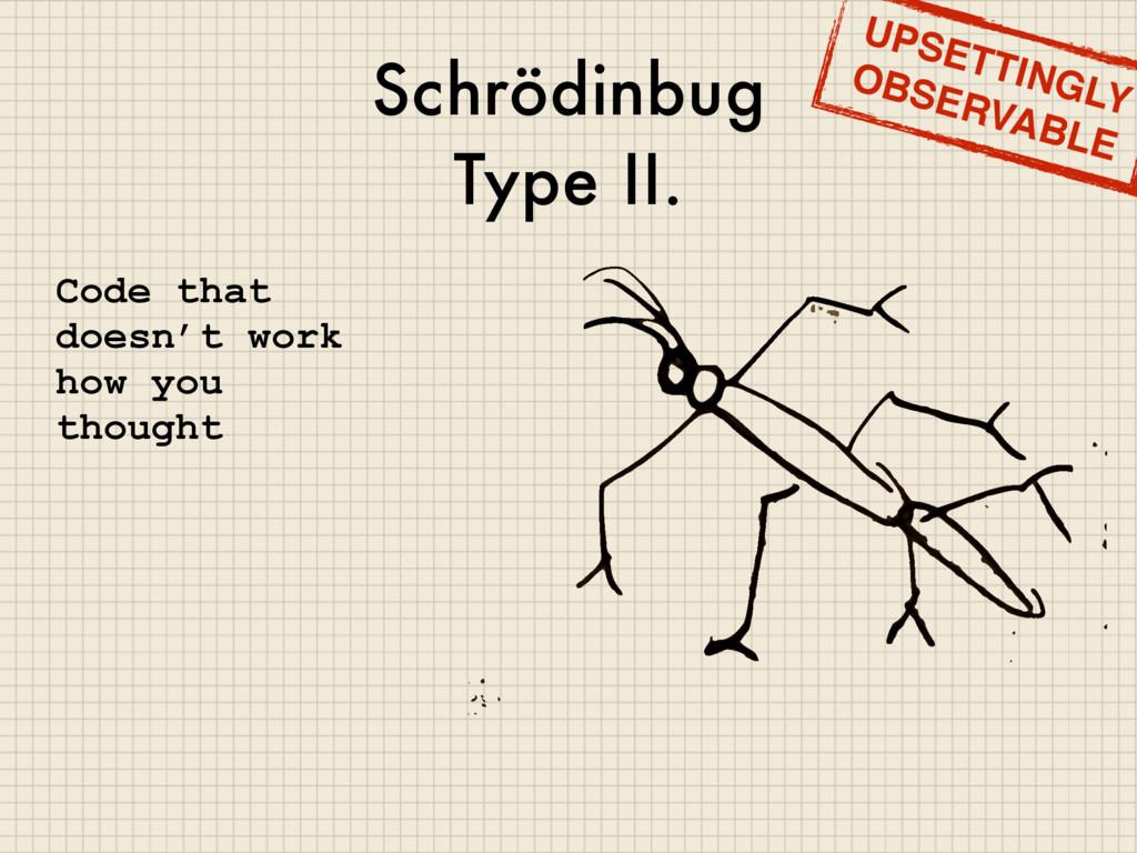 Schrödinbug Type II. Code that doesn't work how...