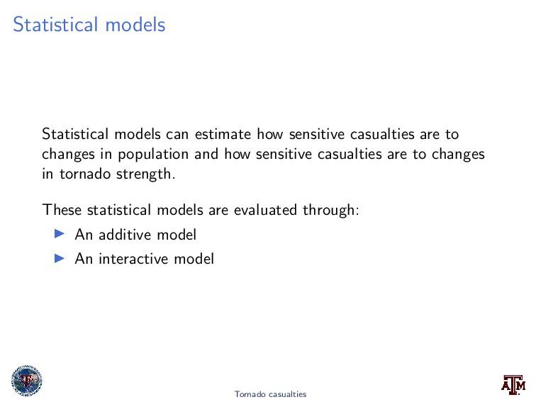 Statistical models Statistical models can estim...