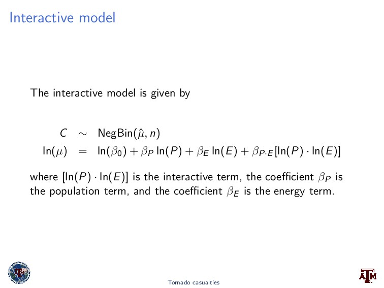 Interactive model The interactive model is give...