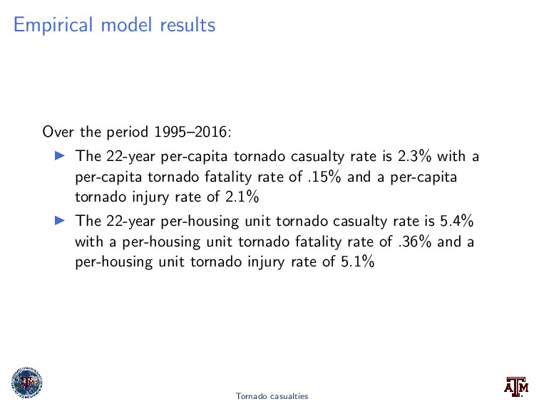 Empirical model results Over the period 1995–20...