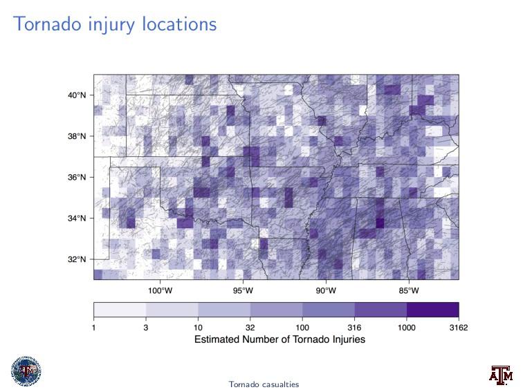 Tornado injury locations Tornado casualties