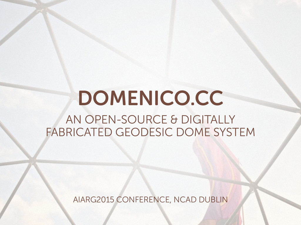 DOMENICO.CC AN OPEN-SOURCE & DIGITALLY  FABRIC...