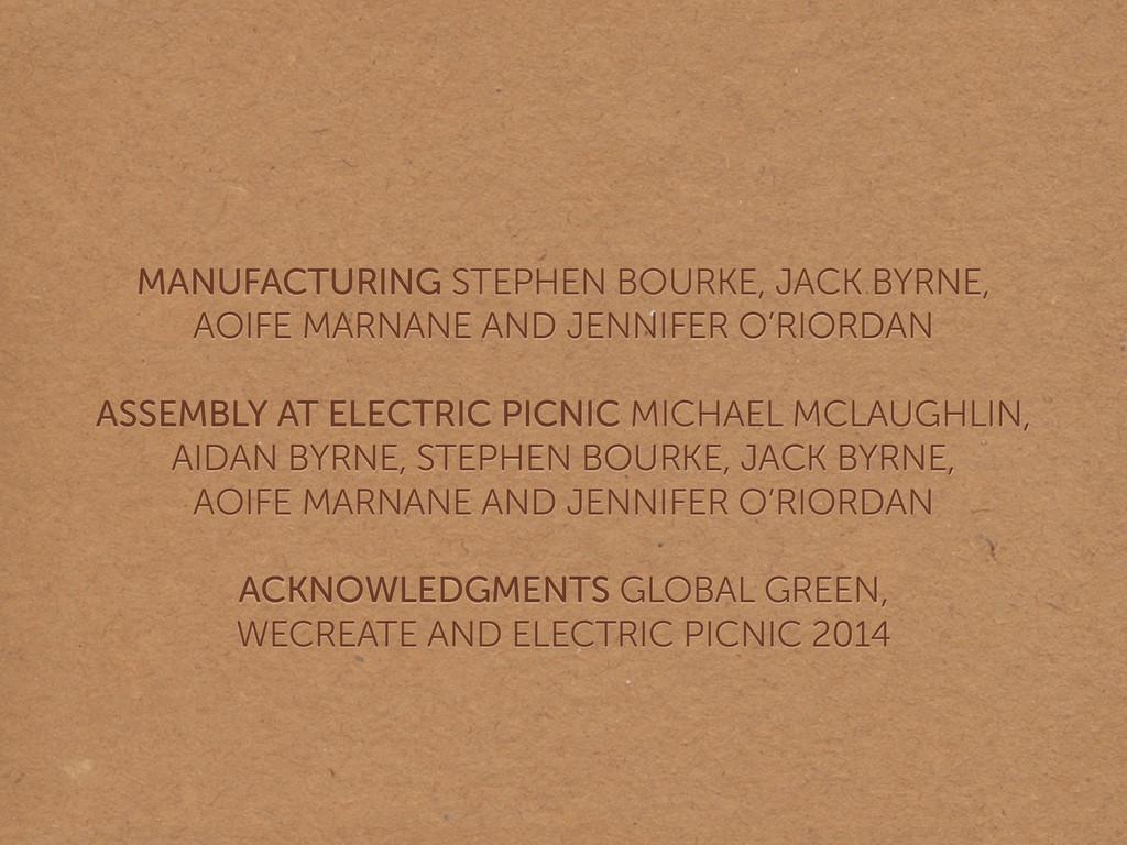 MANUFACTURING STEPHEN BOURKE, JACK BYRNE,  AOI...