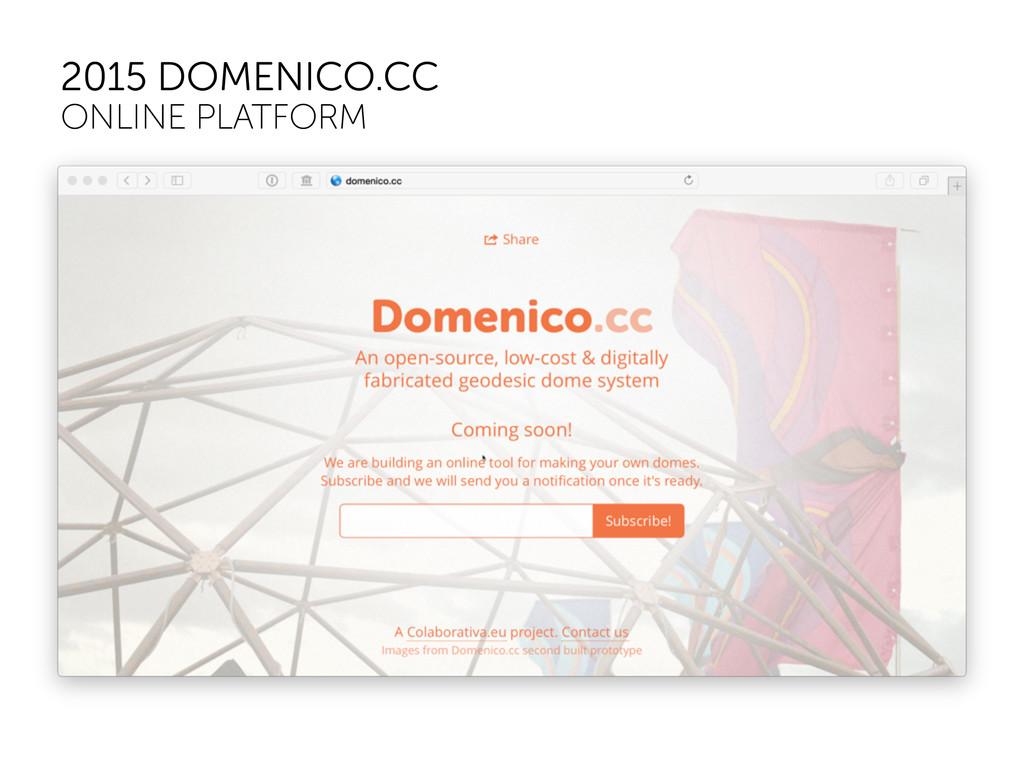 2015 DOMENICO.CC ONLINE PLATFORM