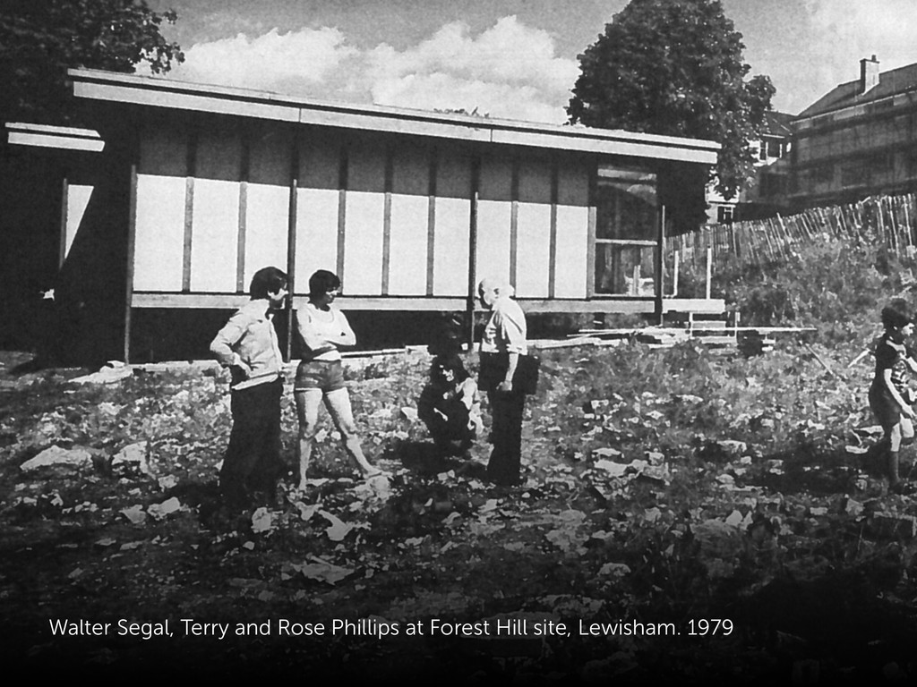 Walter Segal, Terry and Rose Phillips at Forest...