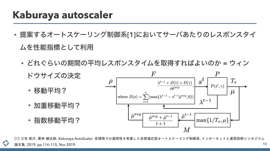 10 Kaburaya autoscaler • ఏҊ͢ΔΦʔτεέʔϦϯά੍ޚܥ[1]ʹ͓͍...