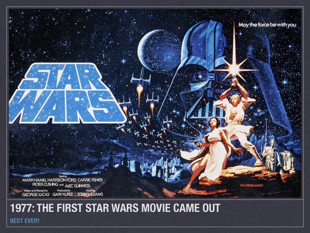 1977: THE FIRST STAR WARS MOVIE CAME OUT BEST E...
