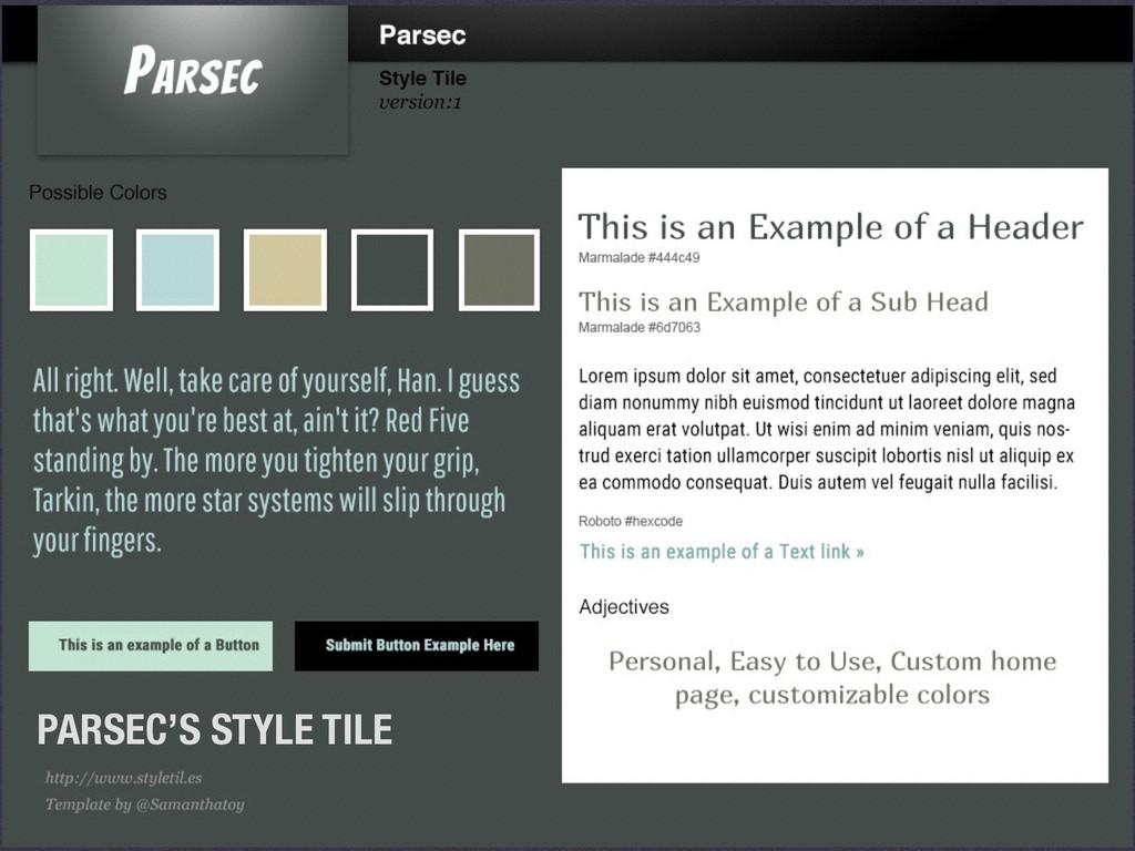 PARSEC'S STYLE TILE