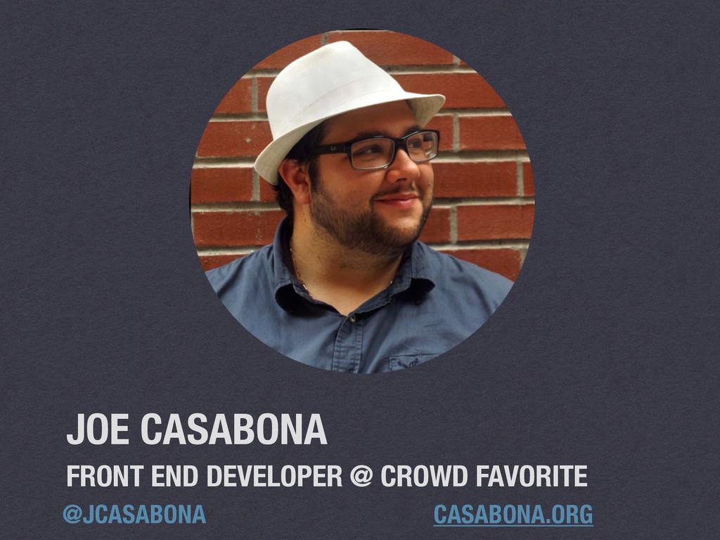 CASABONA.ORG @JCASABONA FRONT END DEVELOPER @ C...
